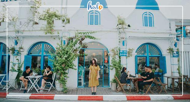"""Photo of """"Ngỡ ngàng"""" vẻ đẹp Santorini Vibes tựa Hy Lạp thu nhỏ ở Hồ Tây"""