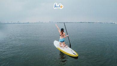 Photo of Chèo thuyền SUP trên hồ Tây: chơi cực đã, lướt cực 'phê'