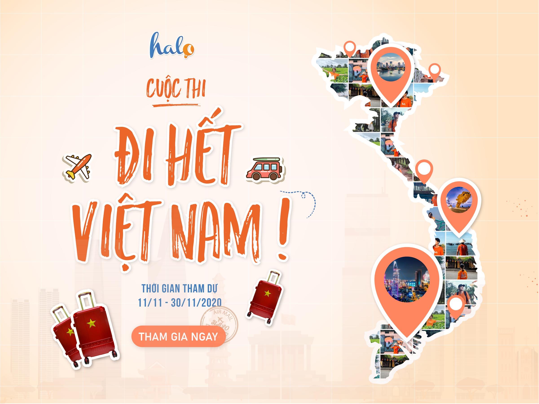 """Photo of [HOT] KHỞI ĐỘNG CUỘC THI """"ĐI HẾT VIỆT NAM"""" NHẬN NGAY VALI CỰC CHẤT"""