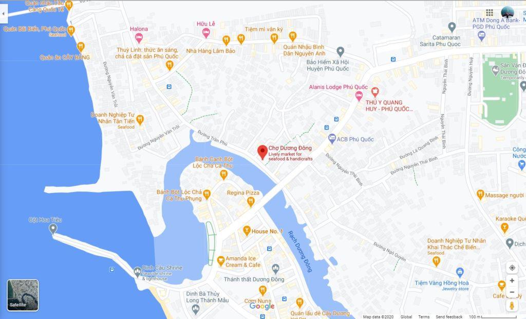 cho duong dong phu quoc tren google map