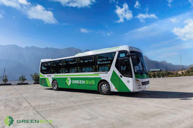 xe khach green bus
