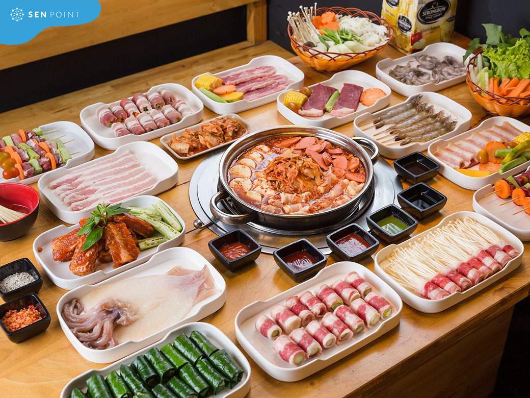 Chinku BBQ nha hang buffet hai san thu duc noi tieng