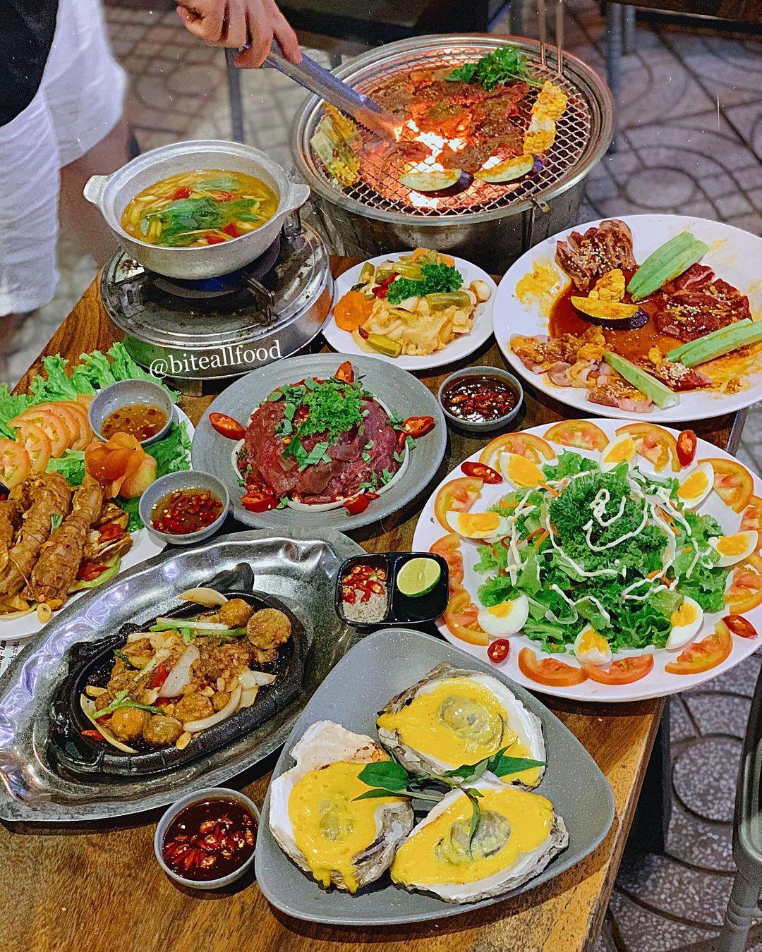 quan an buffet hai san thu duc thung phi nuong Jokul