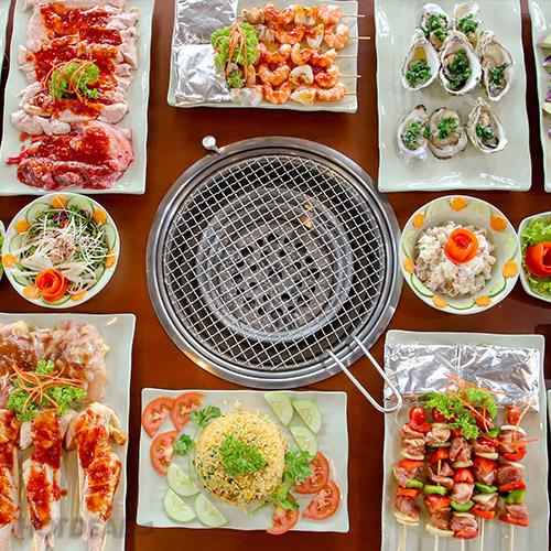 Buffet Nướng U.BBQ buffet hai san thu duc