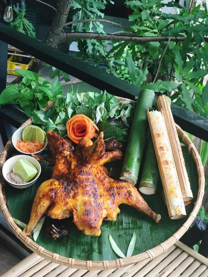 thuong thuc com lam ga nuong mang den cuc ngon