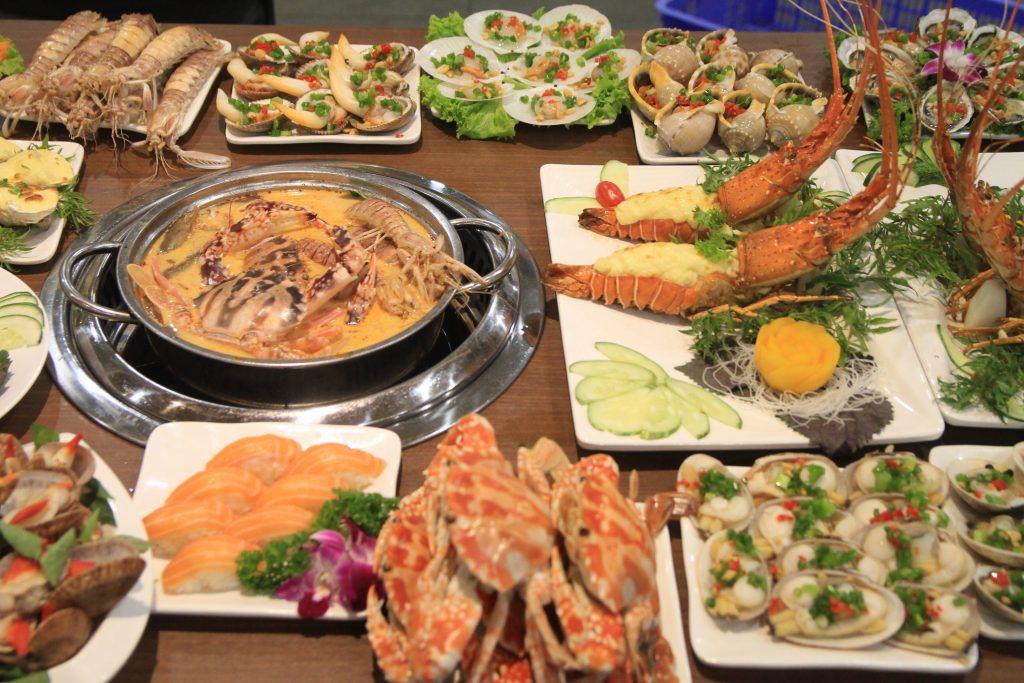 buffet hai san Chef Dzung