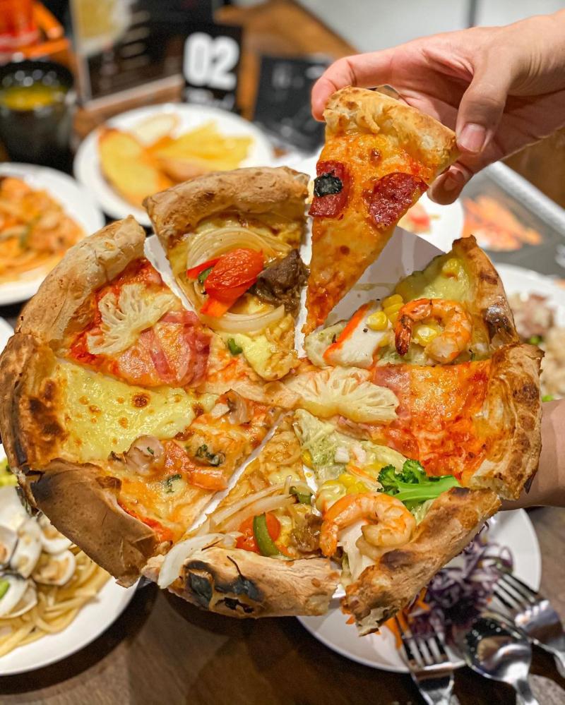 pizza tự chọn o sai gon