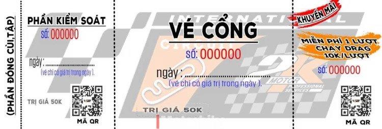 giá vé trường đua 2k