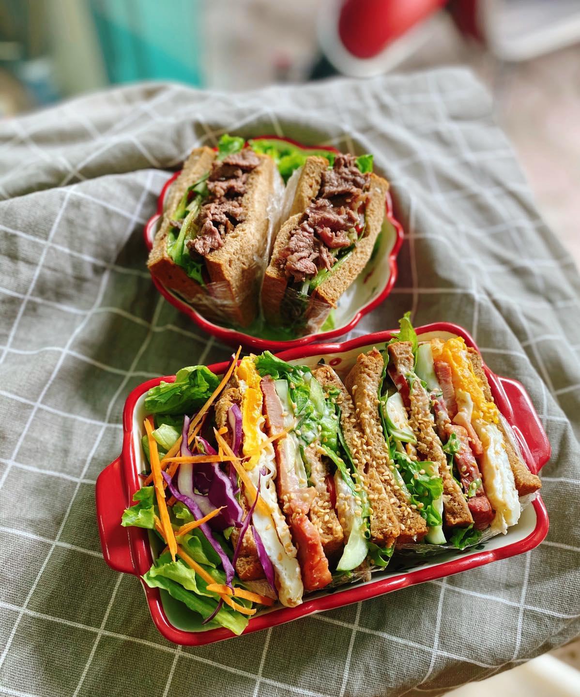 banh mi den sandwich bữa ăn lành mạnh