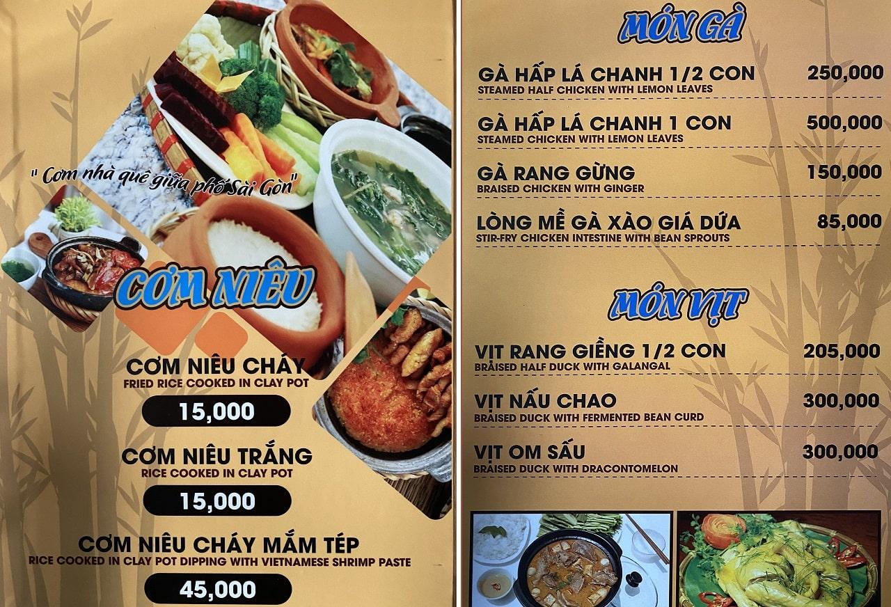 menu truong son nha hang gan san bay tan son nhat