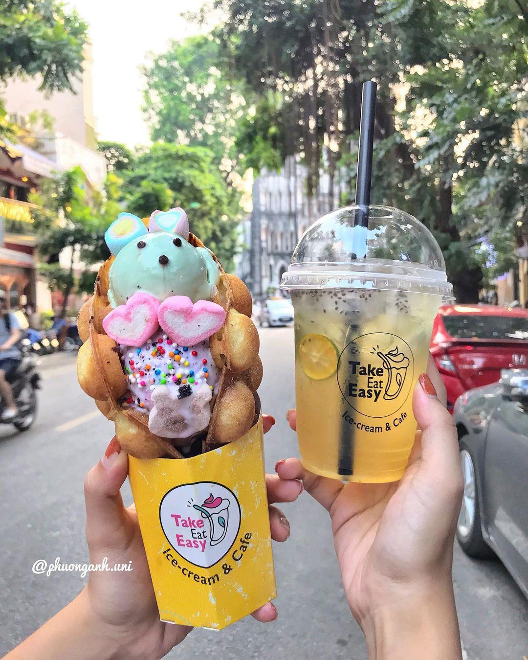 đi ăn cafe kem dễ dàng 2
