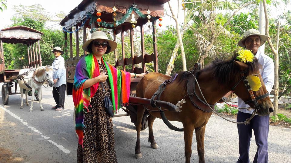 trải nghiệm đi xe ngựa ở thới sơn