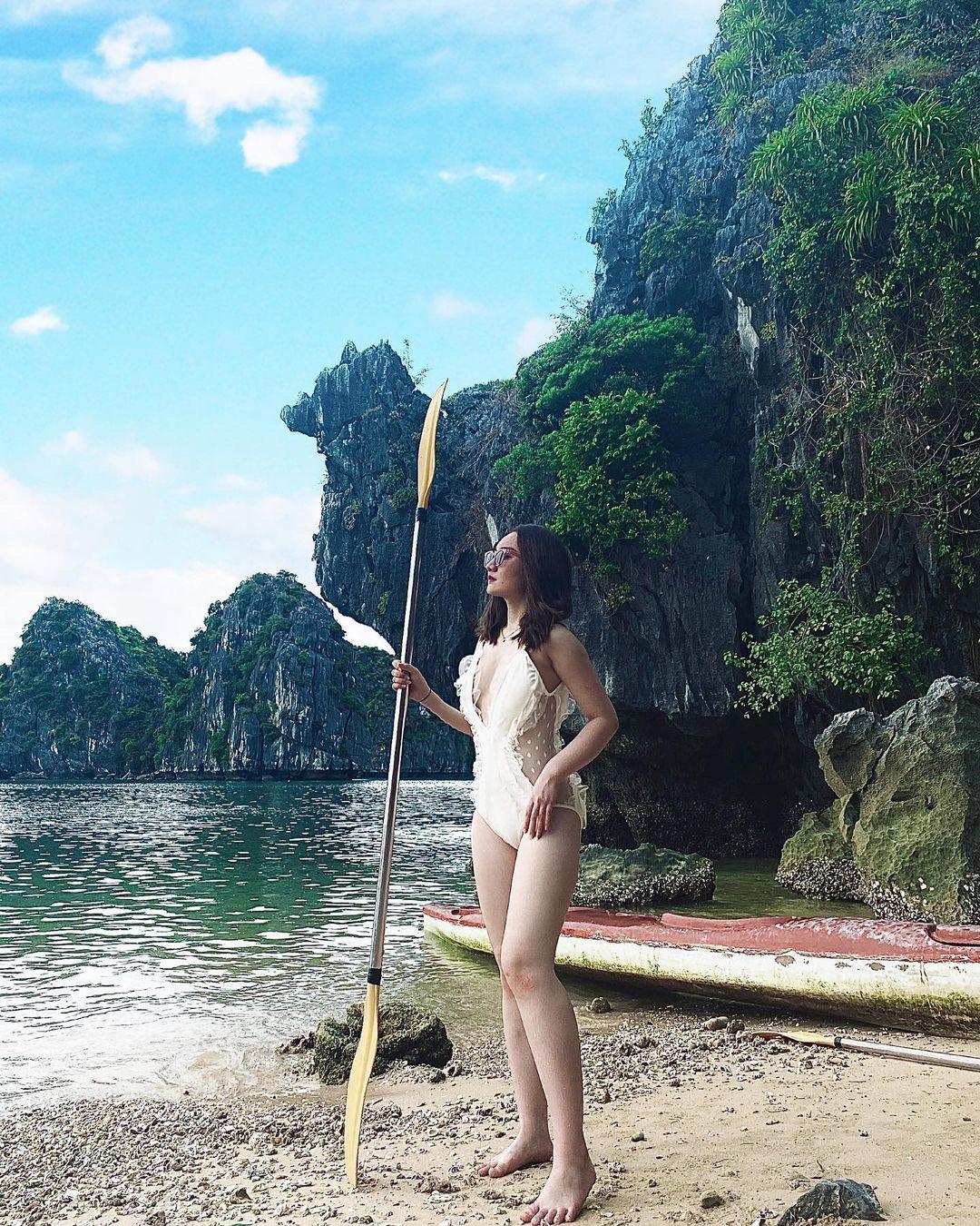 cheo thuyen kayak vinh lan ha