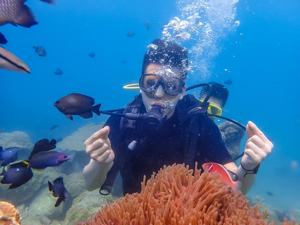 lặn ngắm san hô trong tour nha trang 3 ngày 2 đêm