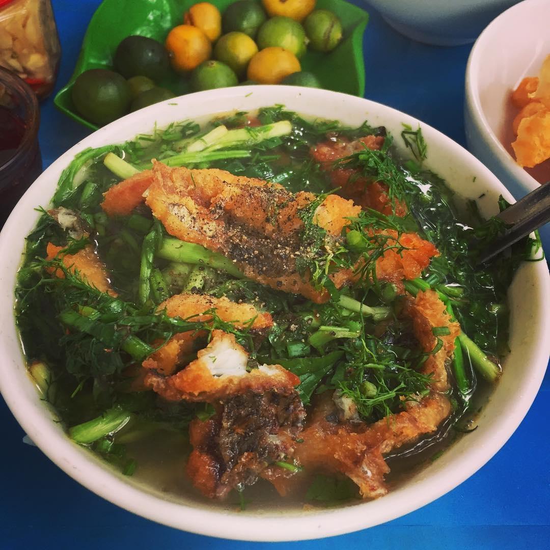 bún cá hàng đậu - địa điểm ăn đêm hà nội