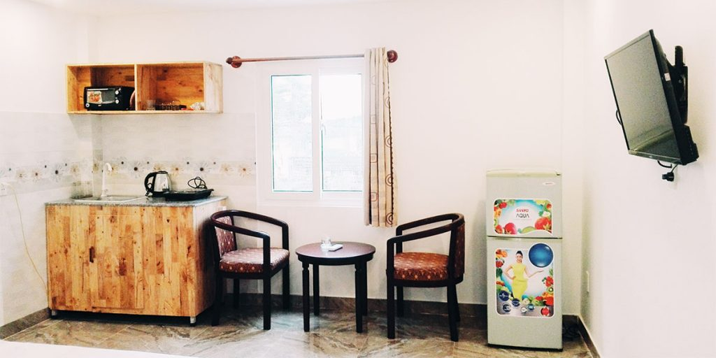 the room at homestay is full more to tiện nghi