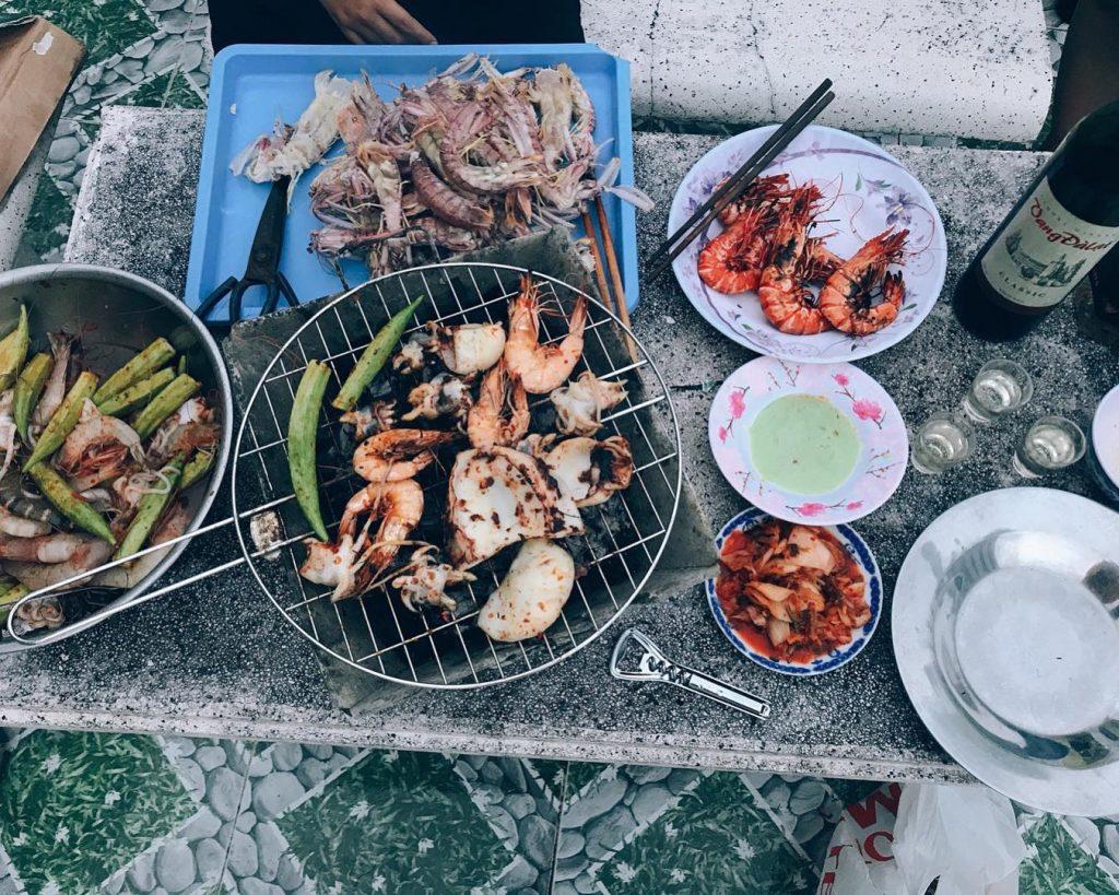 An gi ở Dao Hon Tre Kien Giang