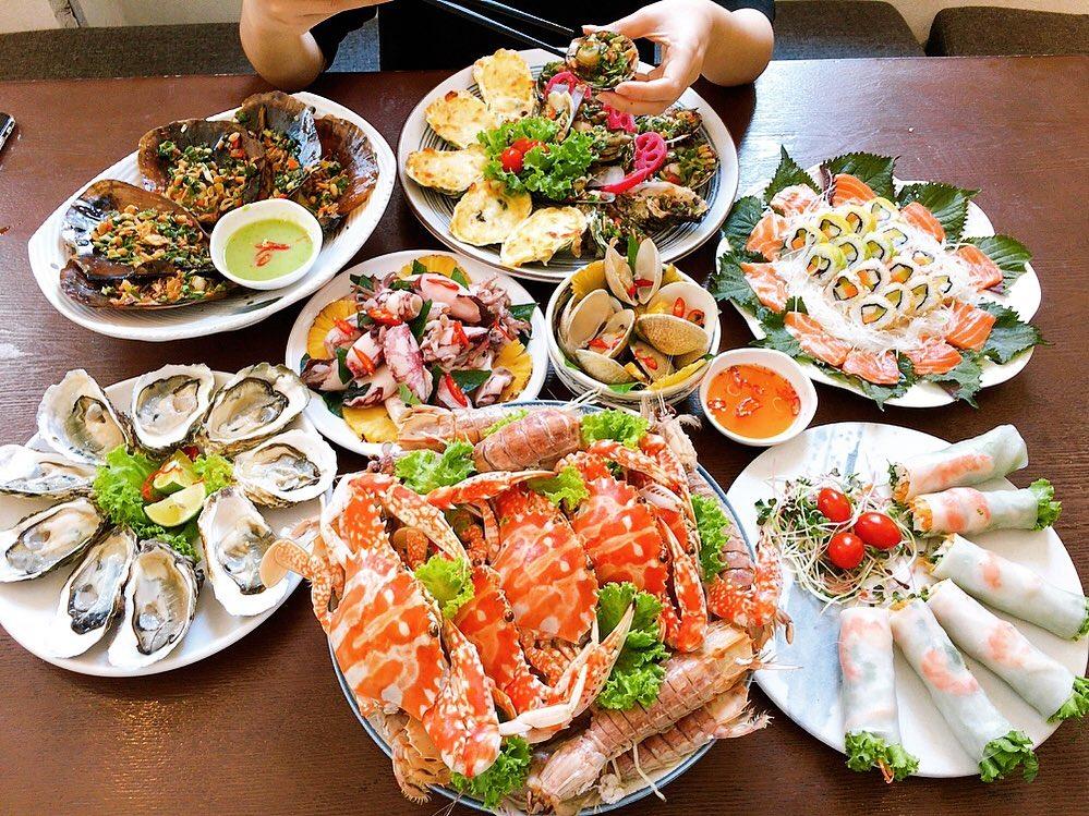 "các món hải sản ""best seller"""