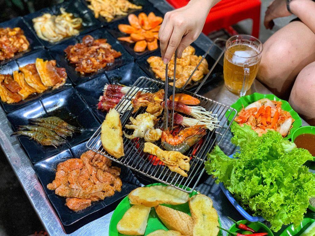 Quán nướng vỉa hè ngon ở Hà Đông
