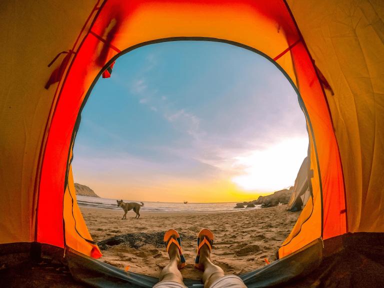 cắm trại bãi môn