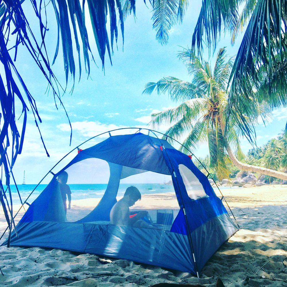 Cắm trại qua đêm trên đảo