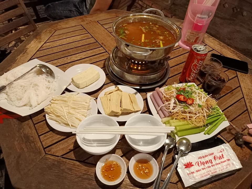 lẩu ngon quận 9 - lẩu chay nhà hàng Vọng Cát