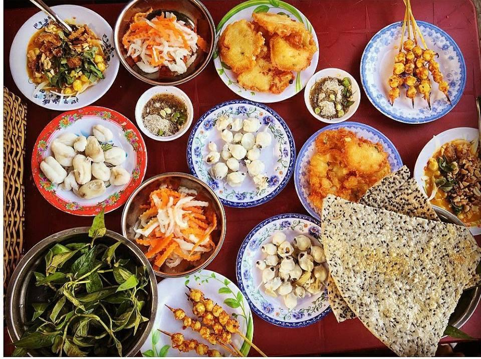 món ăn vặt Phan Thiết - răng mực Đài loan