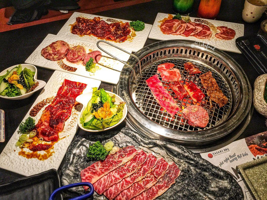 Thưởng thức bữa tiệc nướng thơm ngon tại Tasaki BBQ