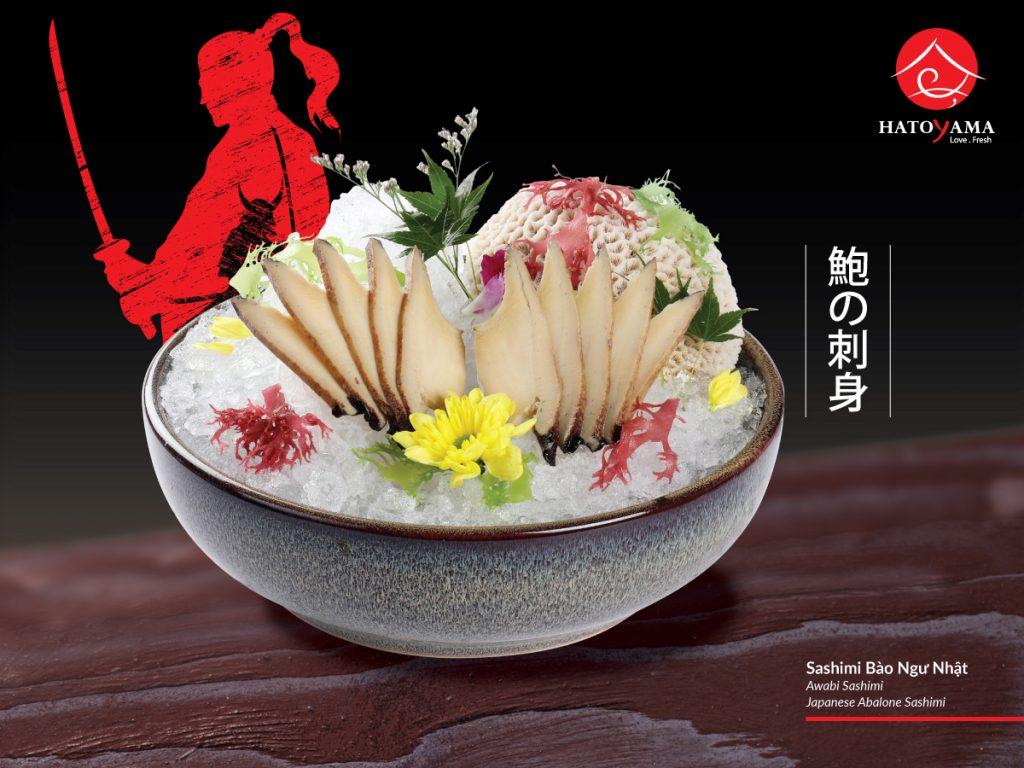 sushi và sashimi tuoi ngon