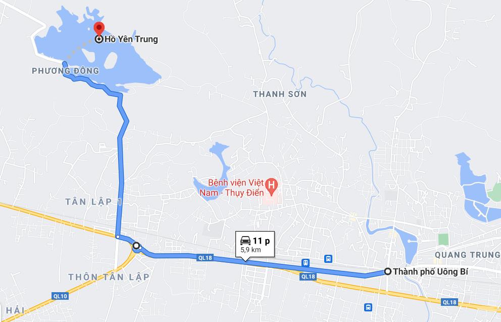Duong den ho Yen Trung