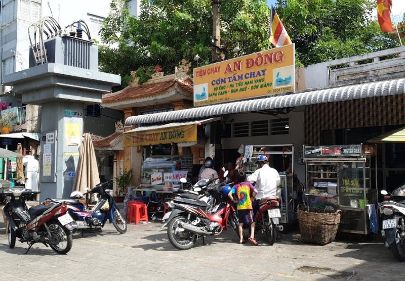 Cửa hàng cơm tâm chay quận 6 An Đông