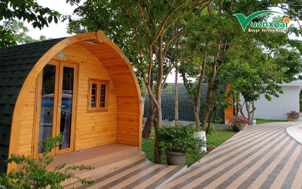 bungalow o khu du lich vuon xoai