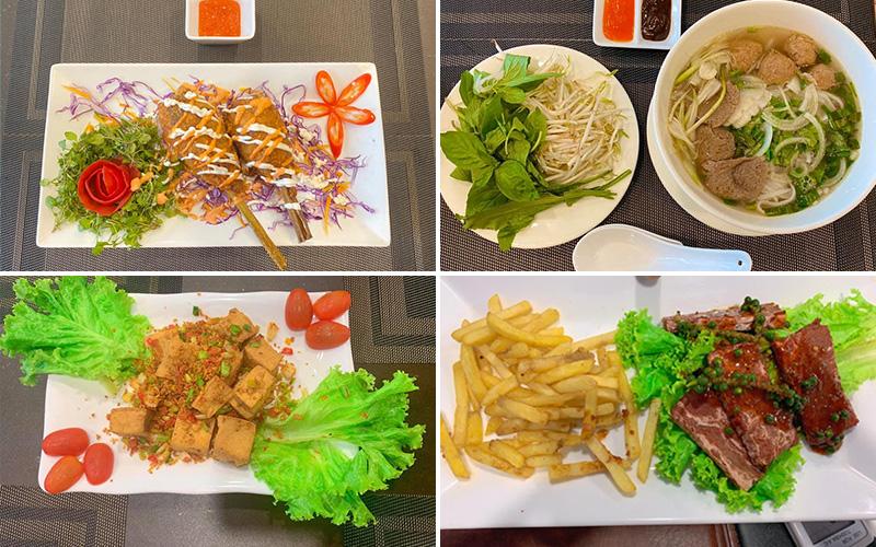 Các món ăn ở chay Nhất Tâm - quán chay quận 4 nổi tiếng
