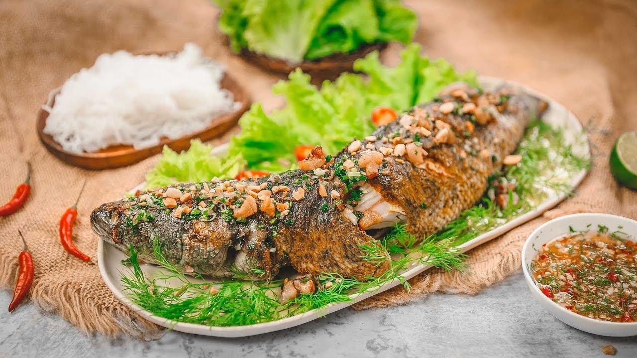 cá lóc đồng nướng trui - đặc sản hậu giang