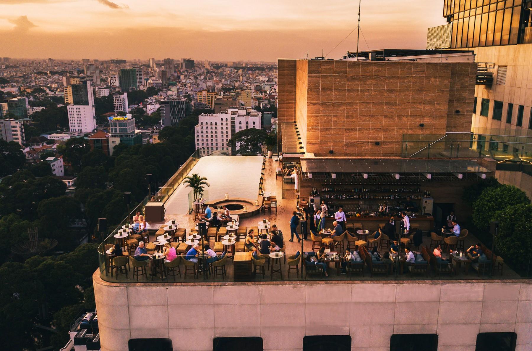 social club rooftop bar