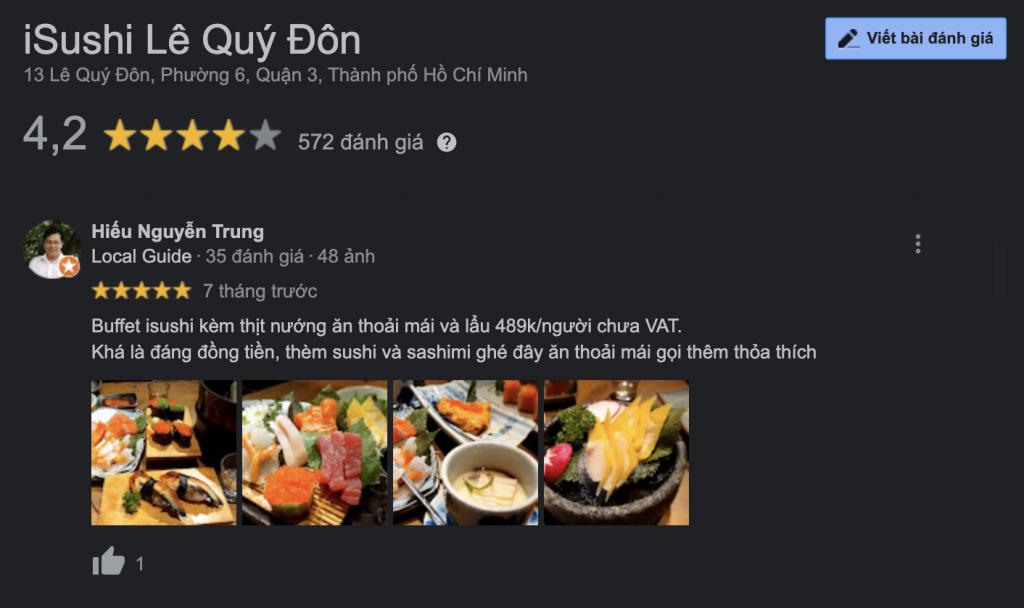 review nha hang isushi